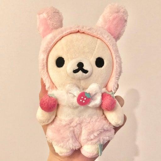 SAN-X Korilakkuma Strawberry Bunny Plush