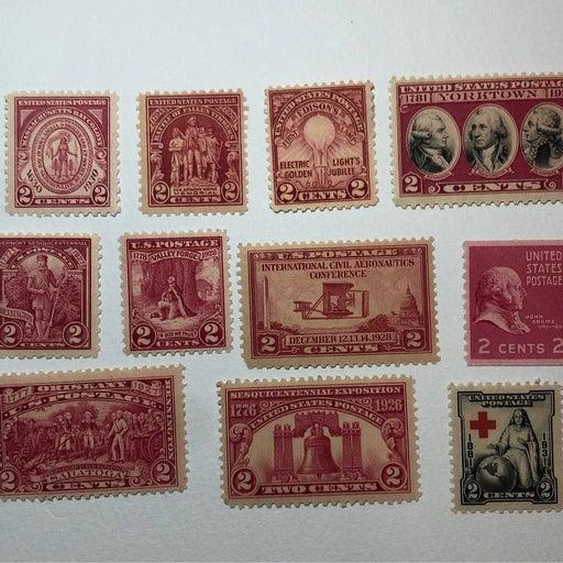 US Postage Stamp lot (11 old unused stamps)