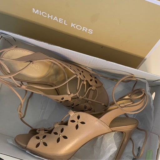 Michael Kors Thalia Lace Up Sandals 5