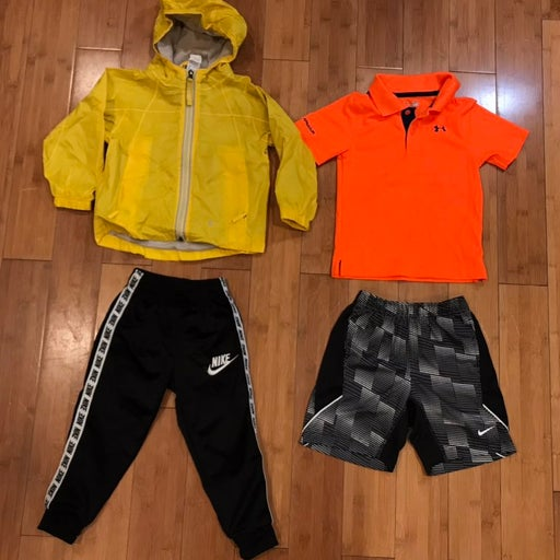 kids athletic clothes and roam coat size 3T