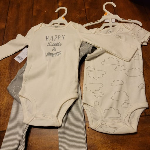 NWT- 3 Piece Baby 12m Onesie Outfits