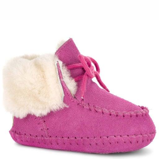 Ugg Infant Sparrow Boots 4 5 Princess Pink Booties Moccasins Suede Fur Girls