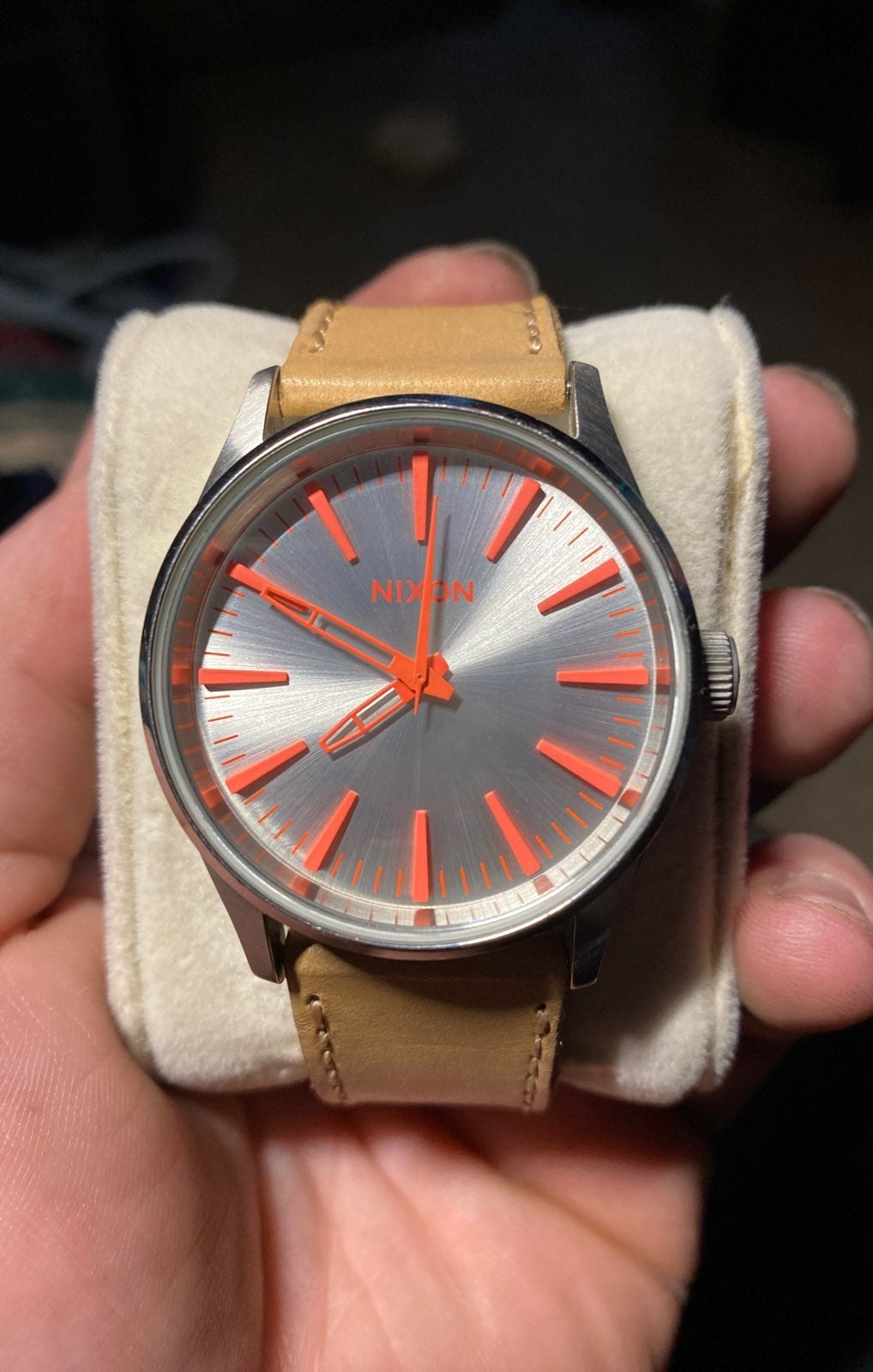Nixon The Sentry 38 Brown Leather Watch