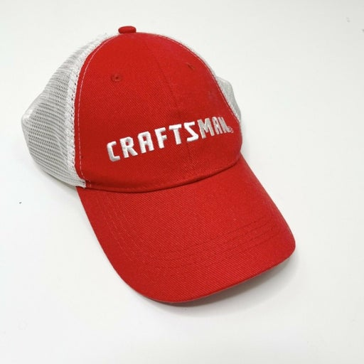 Craftsman Red Embroidered Trucker Hat