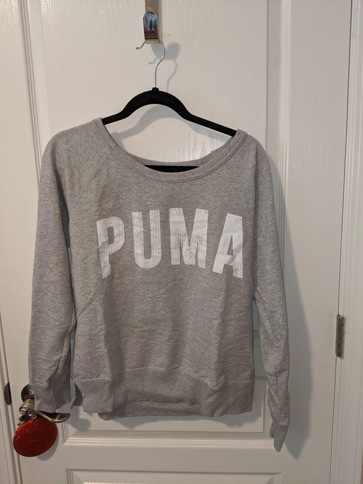 Puma Logo Grey Pullover