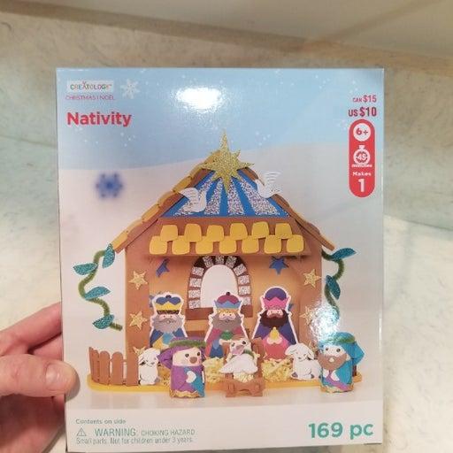 Nativity Foam Scene Craft DIY 169pcs