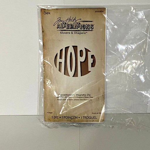 Tim Holtz Movers and Shapers Hope