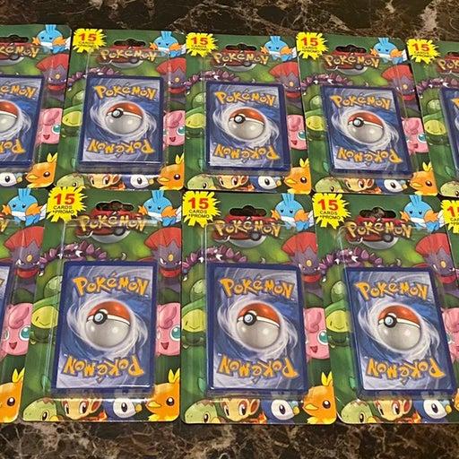10 Pokemon Blister Packs 15 cards plus Bonus