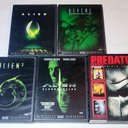 Alien 1-4, Predator 1, 2 & AVP DVD Lot