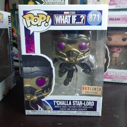 T'Challa Star Lord Funko Pop 871 metalli