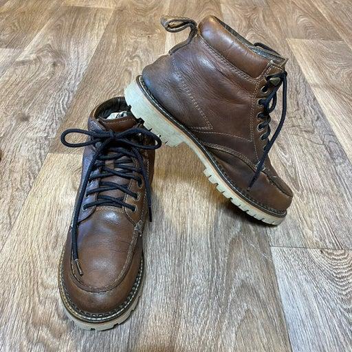Eddie Bauer Brown Leather Hiking Boots Waterproof