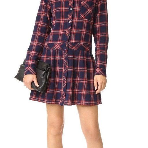NWT Current/Elliotte plaid pleats dress