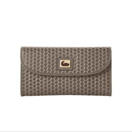 New Dooney & Bourke Camden Gray Woven Wallet