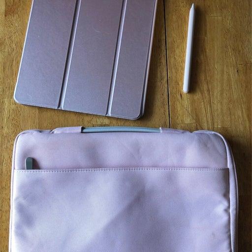 "Pink 12.9"" iPad Pro + Apple Pencil Accessories Bundle"
