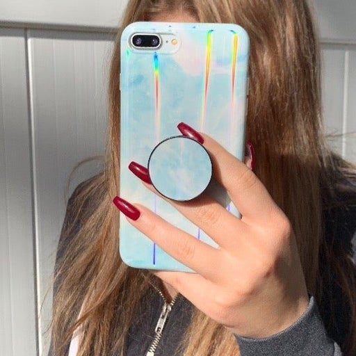 New iPhone Xs Max Sky Blue Laser Case