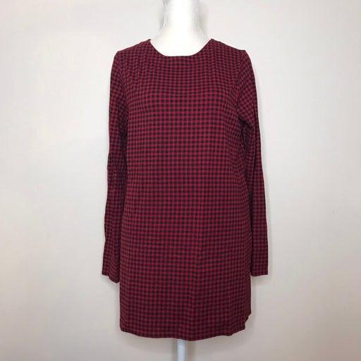 J Jill Top Small Luxe Supima tunic long sleeve red