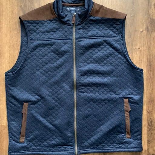 Cremieux men vest brown/navy XL
