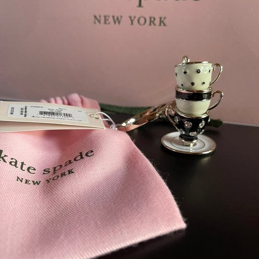 Kate Spade Stackable Tea Cup Keychain
