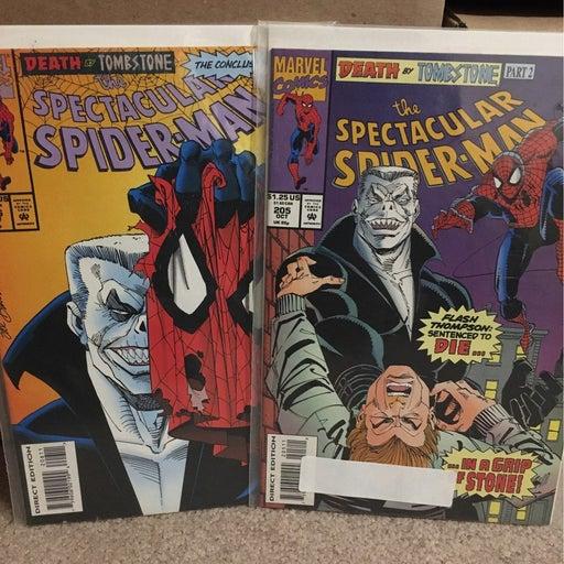 Spider-Man Death of Tombstone comics