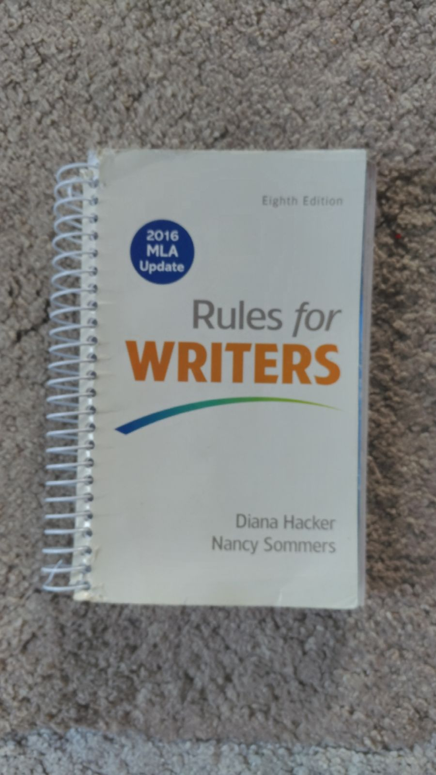 Rules for Writers 8th Edition