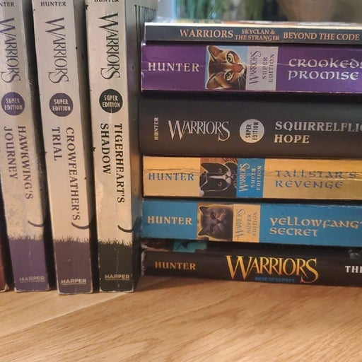 Lot of Warrior books by Erin Hunter