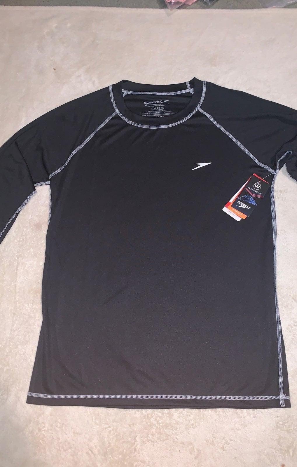 Black Speedo long sleeve Swimming shirt