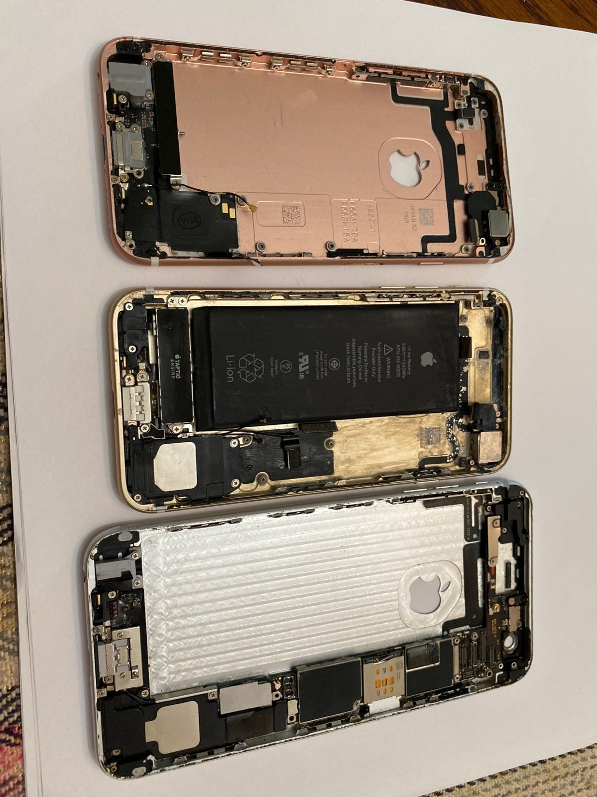 3 pcs Iphone Back Cover used for PARTS