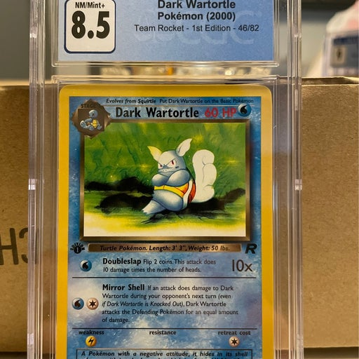 Pokemon CGC 8.5 Dark Wartortle 1st Ed.