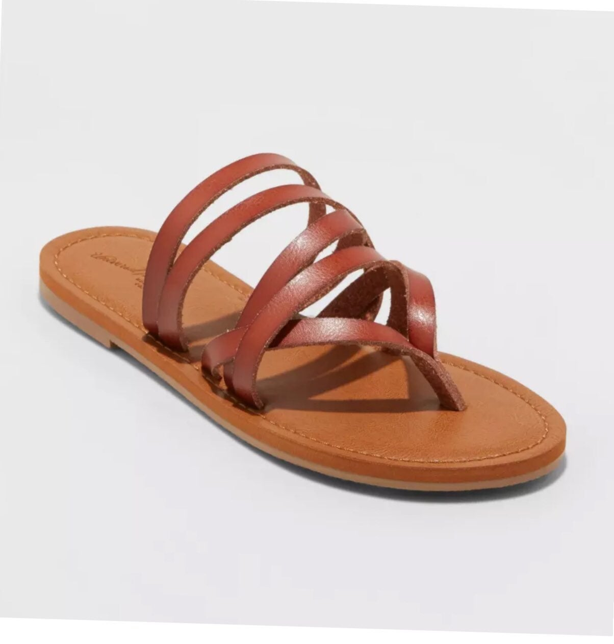 Maritza Multi Strap Toe Slide Sandal~New