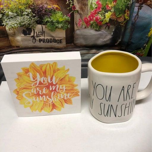 Rae Dunn You Are My Sunshine Mug and Sign
