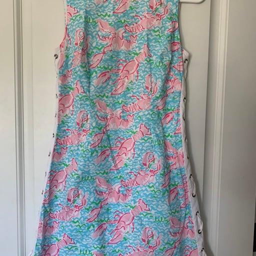 Lilly Pulitzer Lobstah Roll Delia Shift Dress
