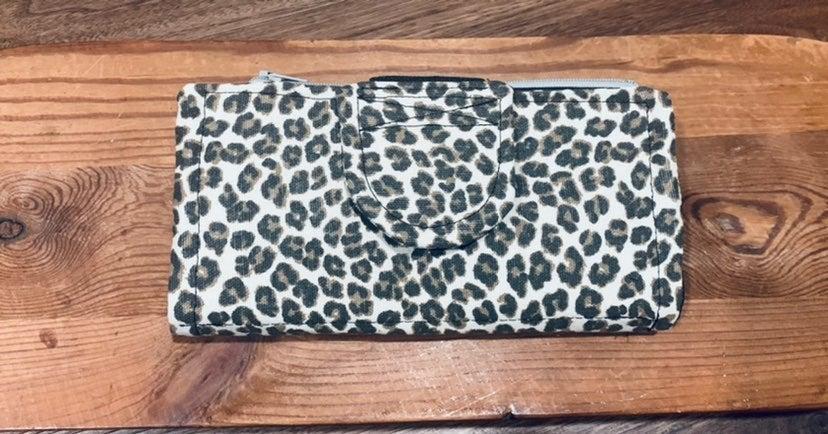 Leopard Wallet | Cash Envelope Wallet
