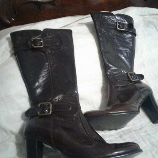 Custom made leather Boots size 36.5