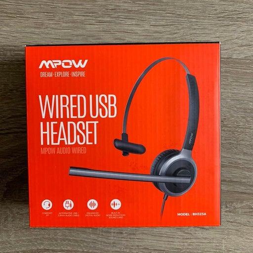 Mpow wired USB headset