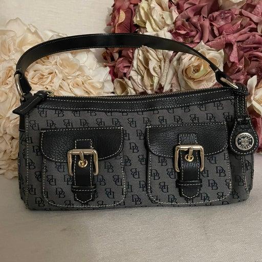 Dooney & Bourke Signature Hobo Buckle Double Pockets Shoulder Handbag