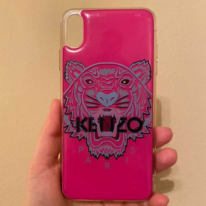 KENZO iPhone 10XS MAX case in Pink