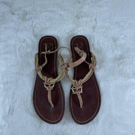 DV Dolce Vita Gold Rope Gladiator Sandal Toe THong