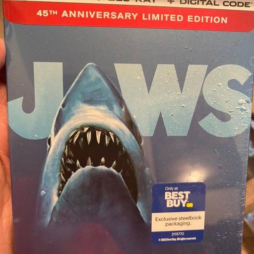 Jaws (Best Buy) (4K +. Digital) (Steelbook) New