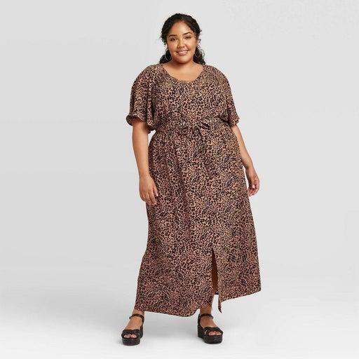 NWT womwns pkus size leopard Dress