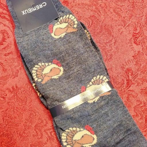 Cremieux Turkey Thanksgiving Socks NWT