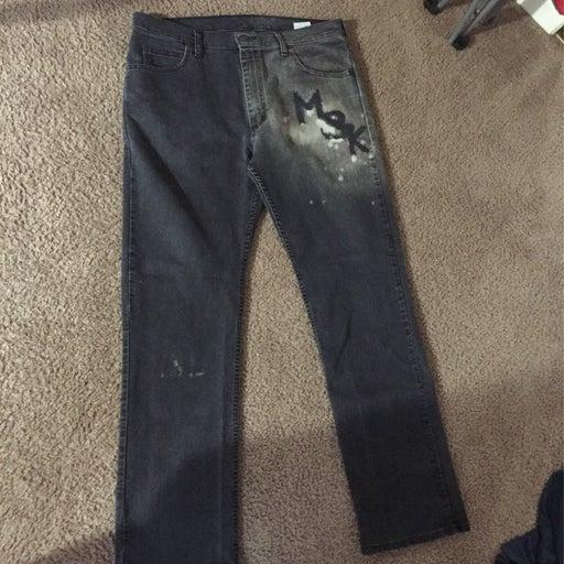 Custom msk logo jeans