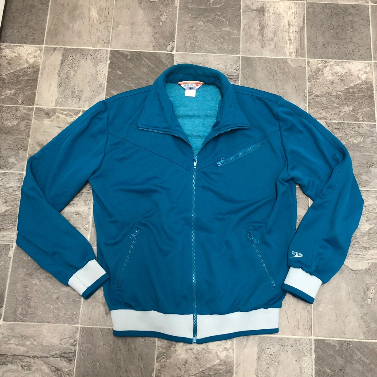 Men's Vintage 80s Speedo Track Jacket