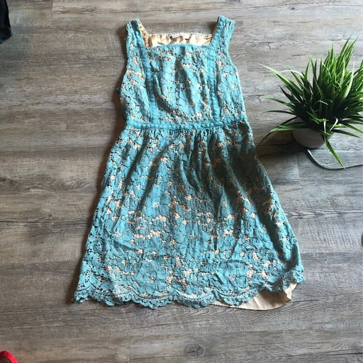 Dress chelsea and violet blue and cream szM