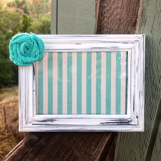 Rustic dry erase frame board chic