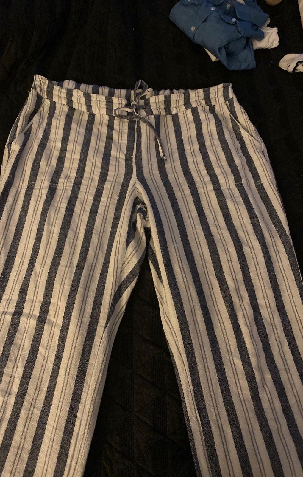 Womens Stripe Cotton Pants BUNDLE
