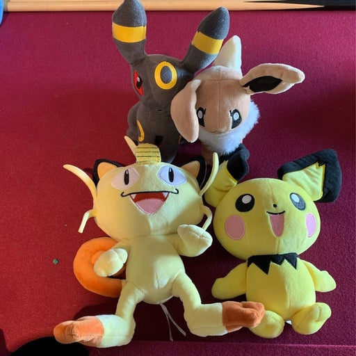 Pokemon plush figures