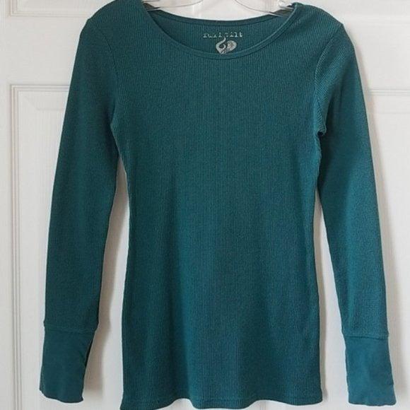 Full Tilt Green Thermal Long Sleeve Top