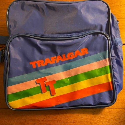 Vintage Trafalgar Blue Travel Bag Tote