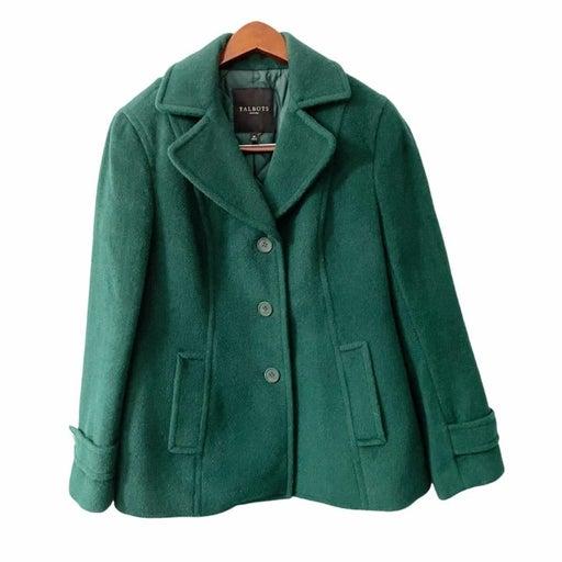 Talbots Wool Al Paca Blend Button Up Pea Coat Size 8P