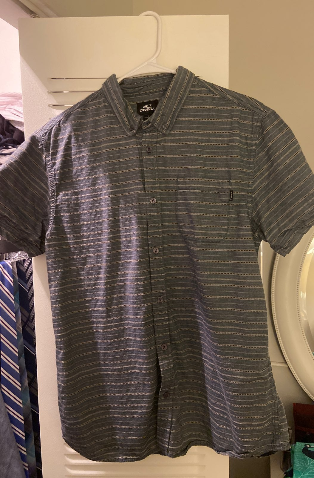 Men's L Button-Up Beach Shirt